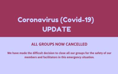 Coronavirus update – GROUPS CLOSED