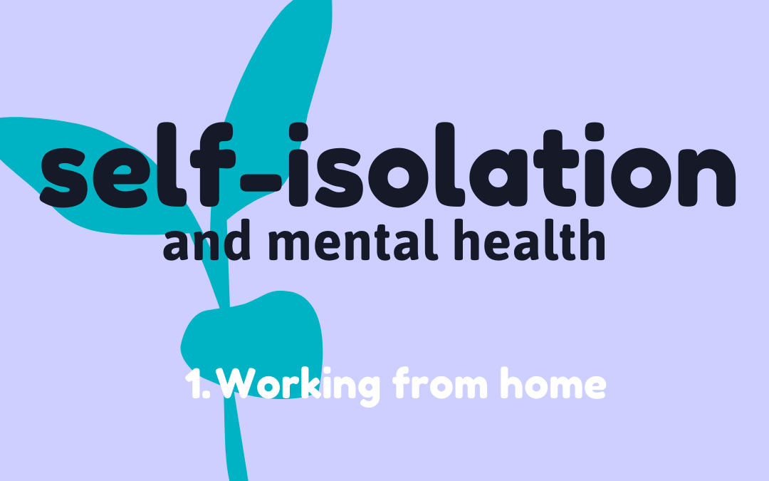 Self-isolation 1: Working from home